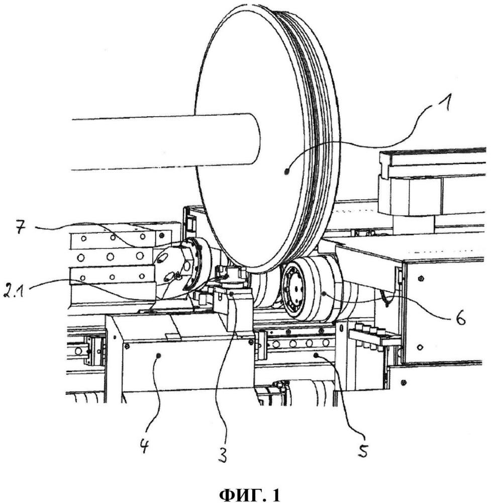 Способ и устройство механической обработки рабочей поверхности колес рельсовых транспортных средств