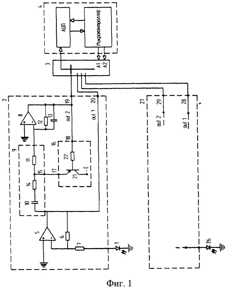 Устройство для усиления и предварительной обработки импульсов с инфракрасного фотодиода