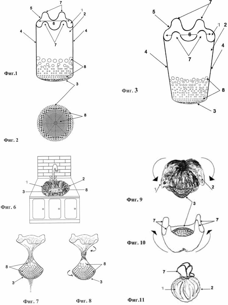 Биомешок с перфорацией для кухонной мойки
