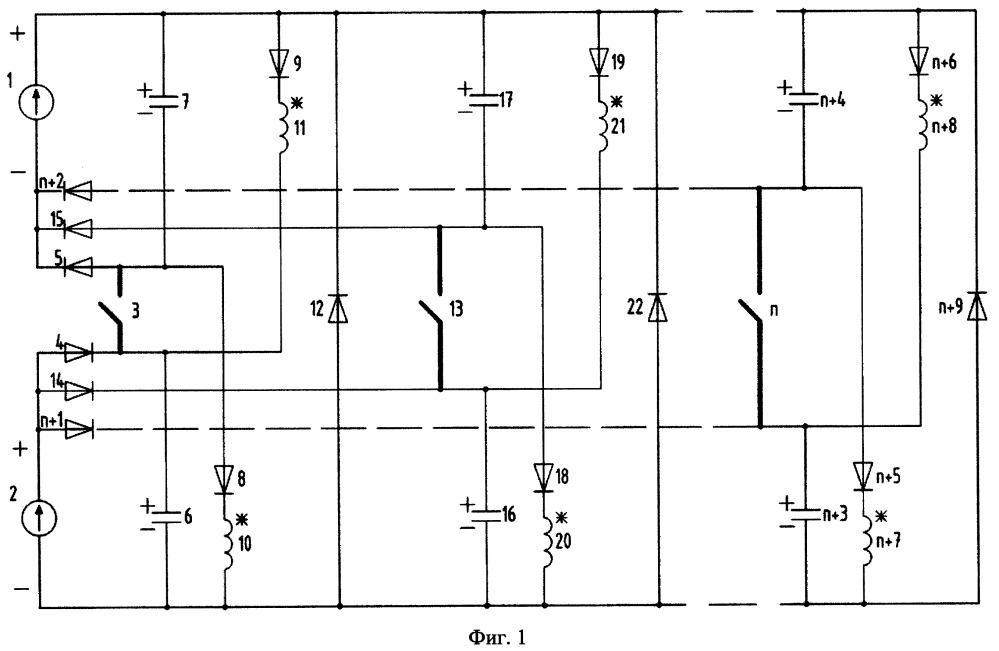 Электропривод одноключевой многофазный