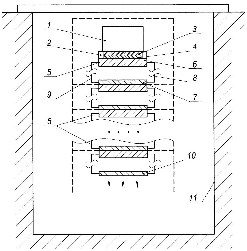 Шахтная установка для передачи тепла на большие расстояния при малых температурных перепадах