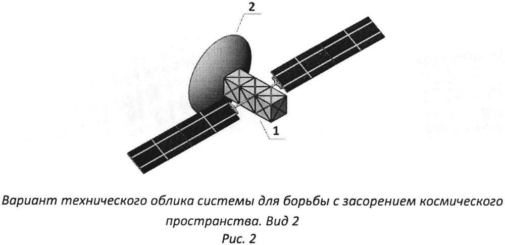 Система для очистки космического пространства от объектов космического мусора