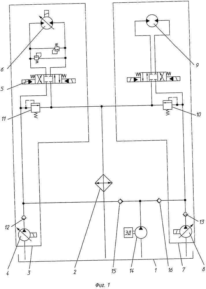 Гидравлическая система инженерной машины