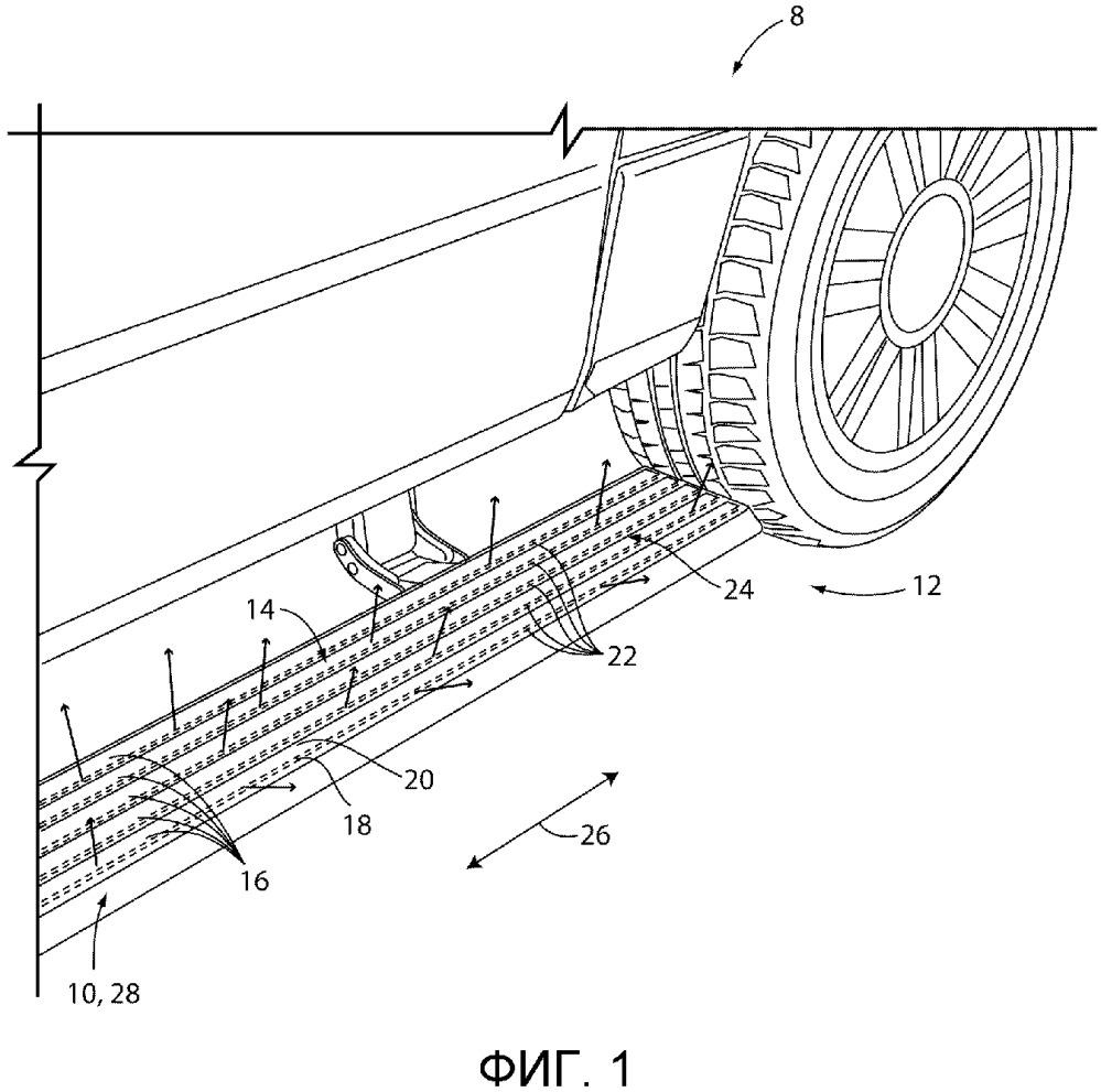 Устройство подсветки для транспортного средства и подвесная подножка с устройством подсветки (варианты)