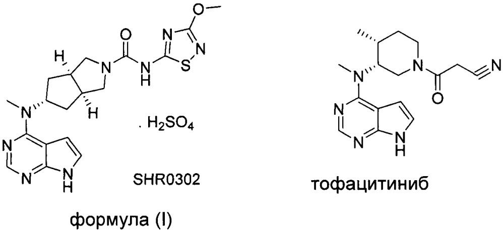 Кристаллическая форма бисульфата ингибитора jak и способ ее получения