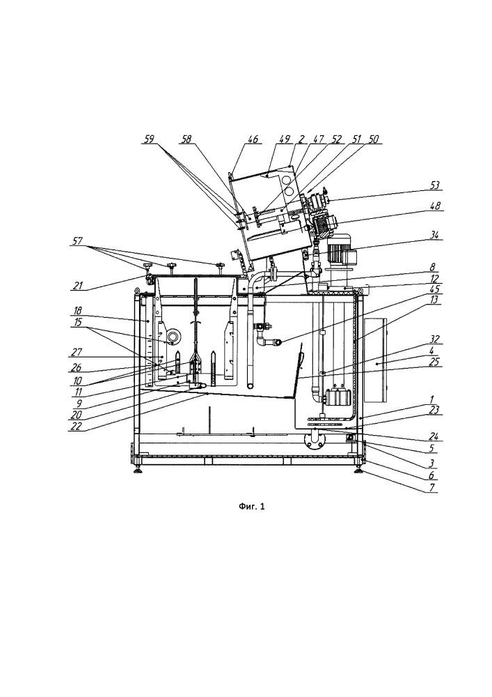 Автоматизированная установка растаривания емкостей и растворения токсичных материалов