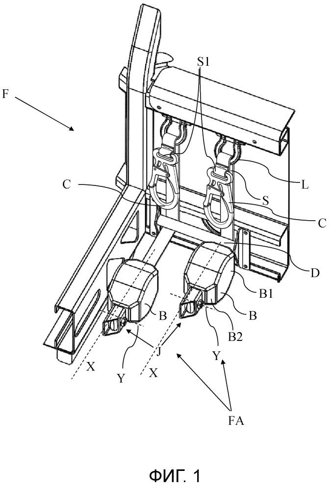 Устройство для защиты от падения для спасательной клети автоматической лестницы, в особенности, для пожарных машин