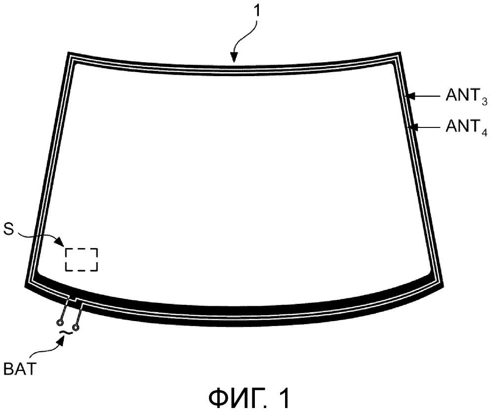 Многослойное стекло с сенсорной системой, передающая система и способ изготовления многослойного стекла с сенсорной системой