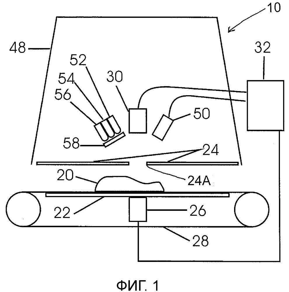 Способ и устройство для сканирования костей в мясе