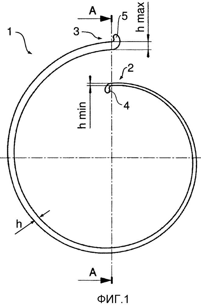 Спиральная пружина для передачи крутящего момента в трансмиссии транспортного средства и для устранения колебаний и/или гашения крутильных колебаний