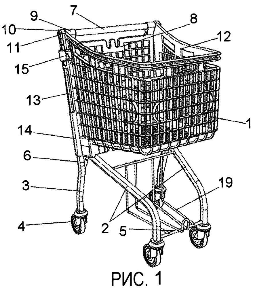 Покупательская тележка для супермаркетов и их аналогов