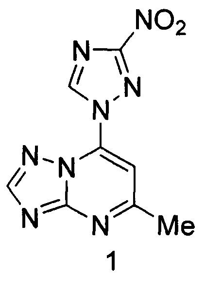 5-метил-7-(3-нитро-[1,2,4]триазол-1-ил)-[1,2,4]триазоло[1,5-а]пиримидина, обладающий противотуберкулезной активностью в отношении возбудителя с множественной лекарственной устойчивостью, и способ его получения