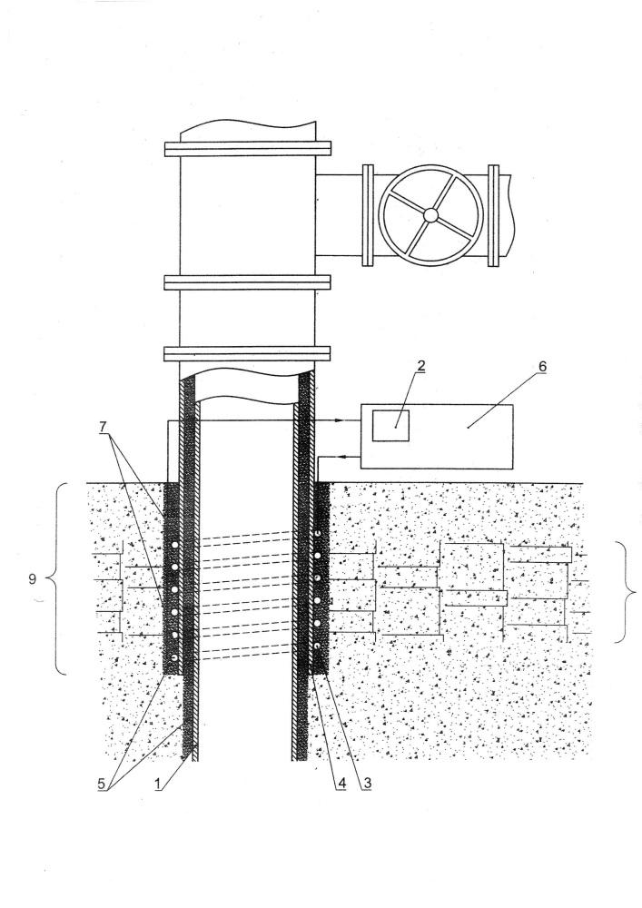 Устройство для теплоизоляции нагнетательной скважины в зоне вечной мерзлоты
