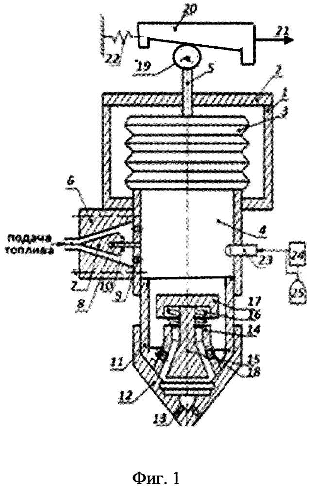 Устройство подачи топлива в цилиндр двигателя внутреннего сгорания