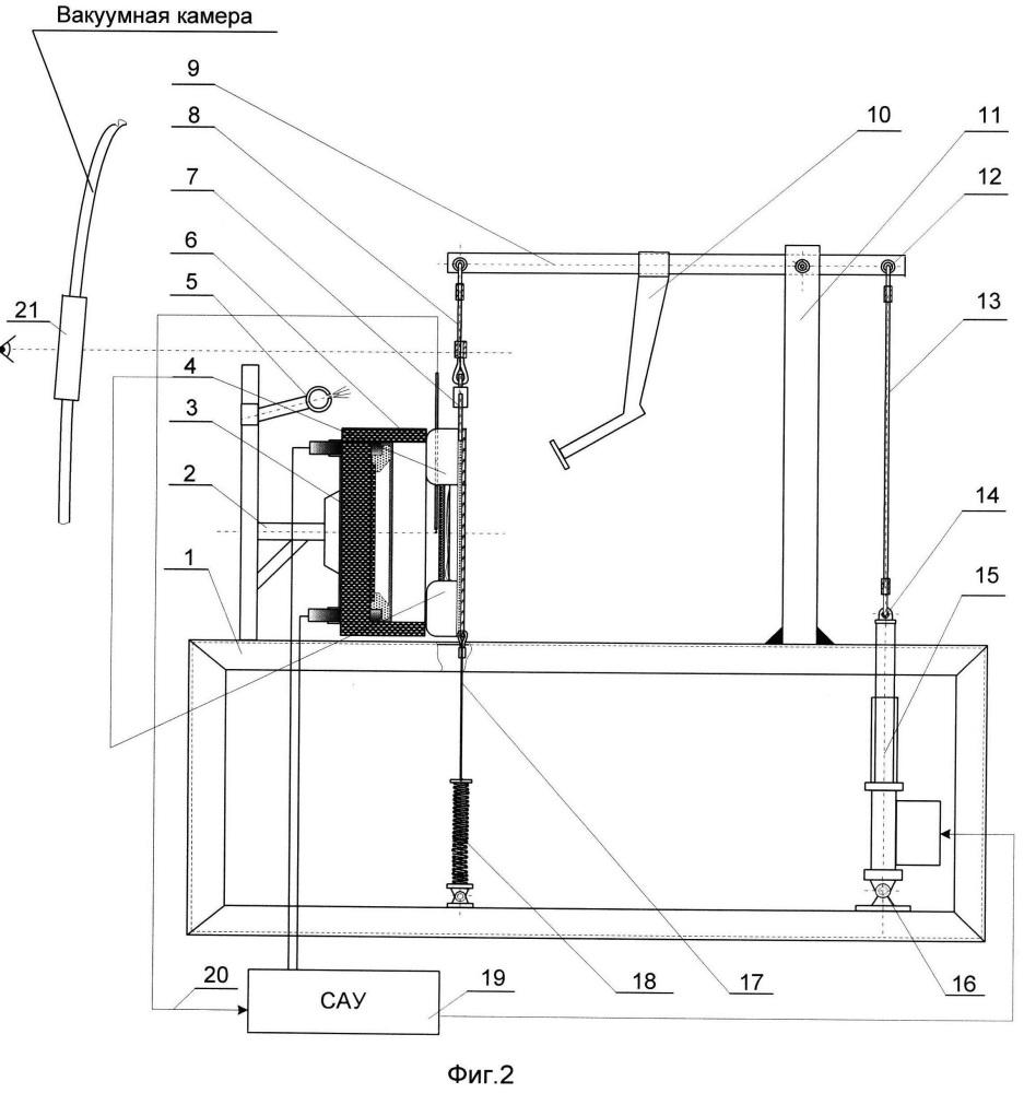 Устройство для тепловых испытаний теплозащитных материалов до температур 2000 k