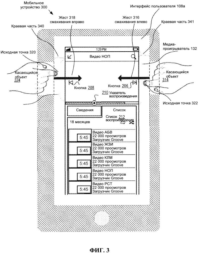 Управление воспроизведением видеоматериалов с использованием сенсорных жестов