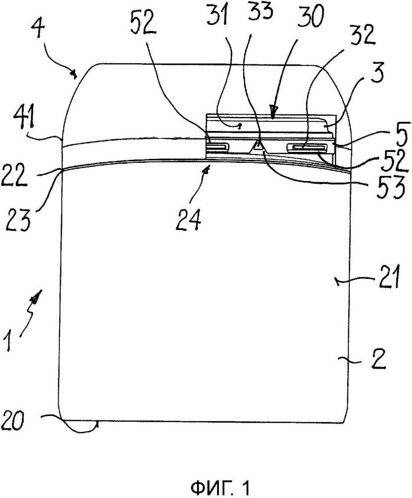 Изготовленная экструзионно-раздувным формованием пластиковая широкогорлая емкость для сыпучих материалов с запорной насадкой