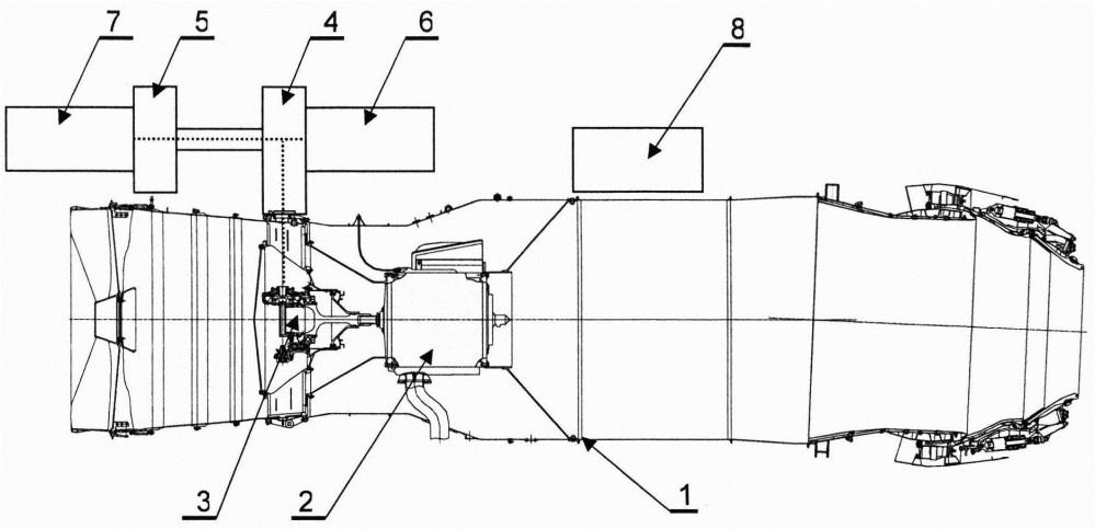 Стенд для комплексных испытаний двигательных и самолетных агрегатов газотурбинного двигателя