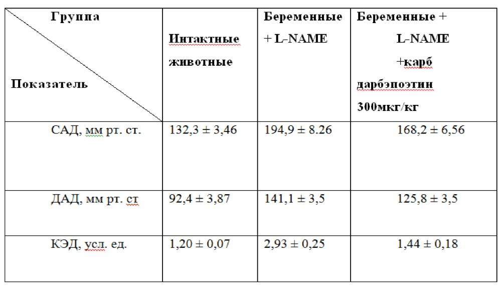 Способ коррекции эндотелиальной дисфункции карбамилированным дарбэпоэтином при adma-подобной модели преэклампсии