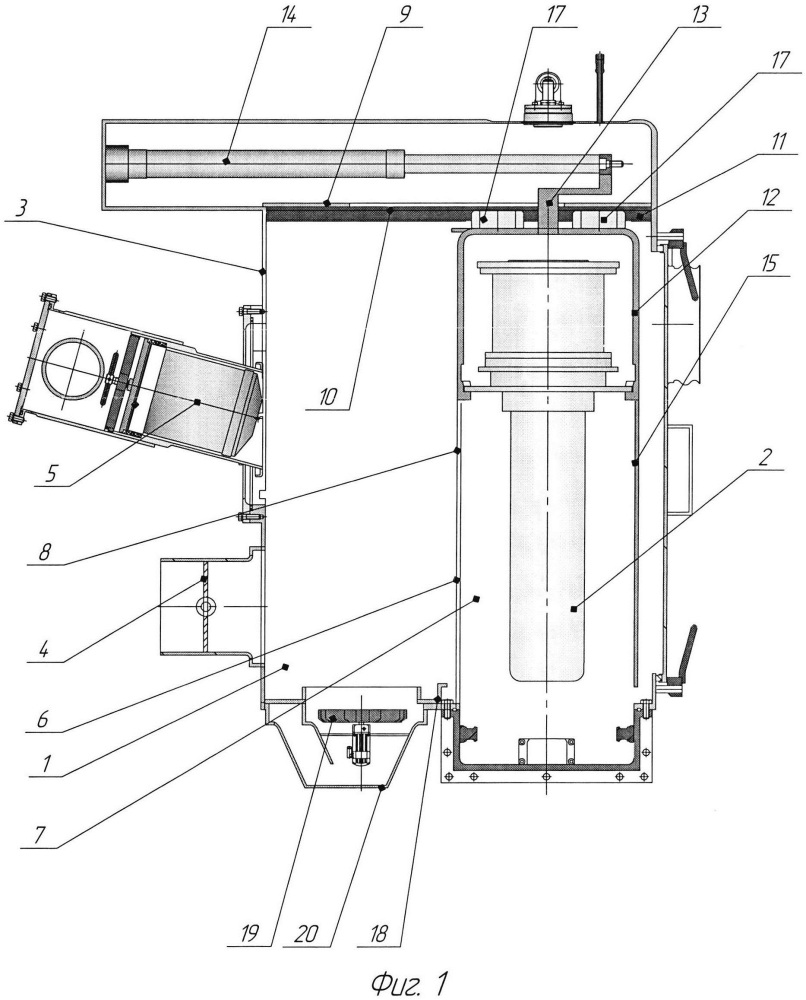 Бокс охлаждения контейнера со смешанным ядерным топливом