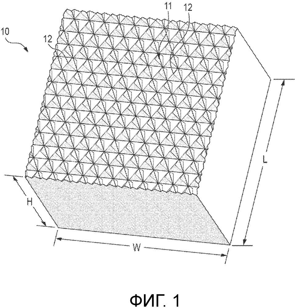Световозвращатель из плиток, изготовленный способом многоэтапной нарезки кубиками