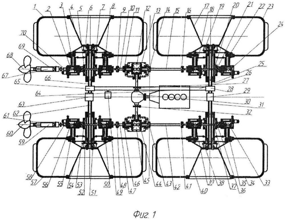 Колёсный вездеход на шинах низкого давления