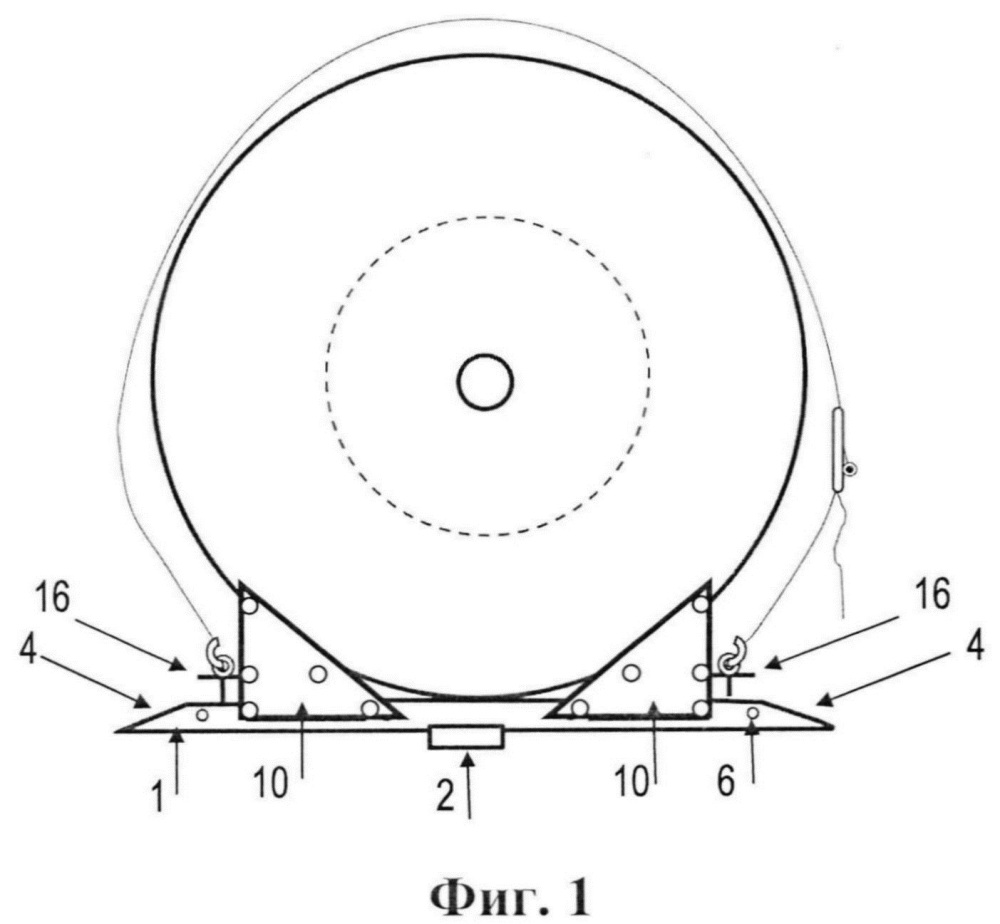 Противооткатное устройство для закрепления кабельно-тросовых барабанов