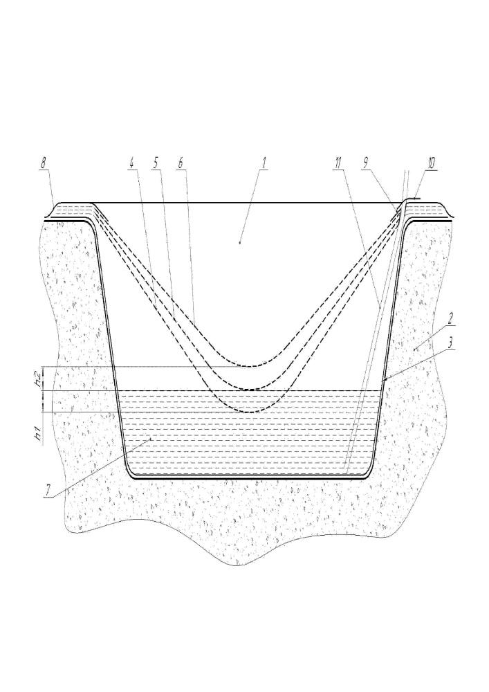 Способ строительства накопительного амбара