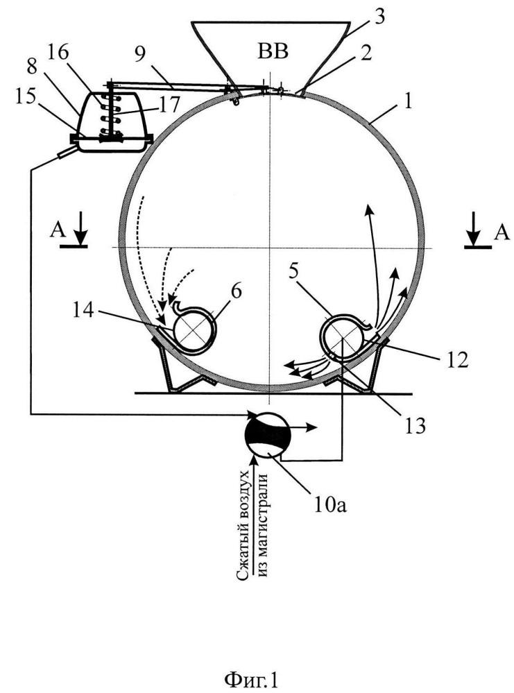 Пневмозарядчик для гранулированных взрывчатых веществ