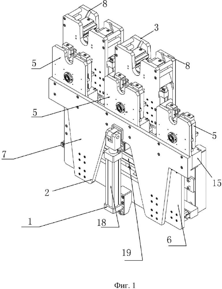 Конвейерное оборудование для поперечного шагового перемещения стального стержня и способ управления им