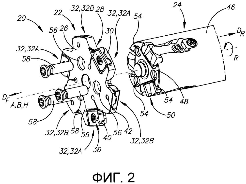 Поворотный режущий инструмент, содержащий конструкцию для регулировки осевого положения