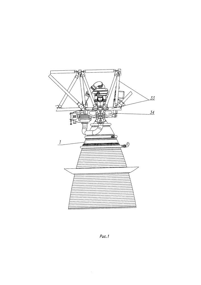Способ комплектации жидкостного ракетного двигателя с дожиганием с управляемым вектором тяги