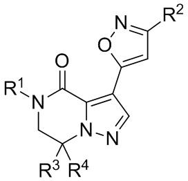 6,7-дигидропиразоло[1,5-а]пиразин-4(5h)-оновые соединения и их применение в качестве отрицательных аллостерических модуляторов рецепторов mglur2