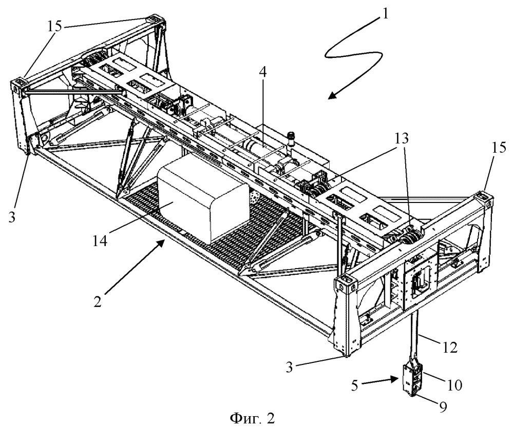 Устройство управления контейнером, в частности контейнером с нижней выгрузкой