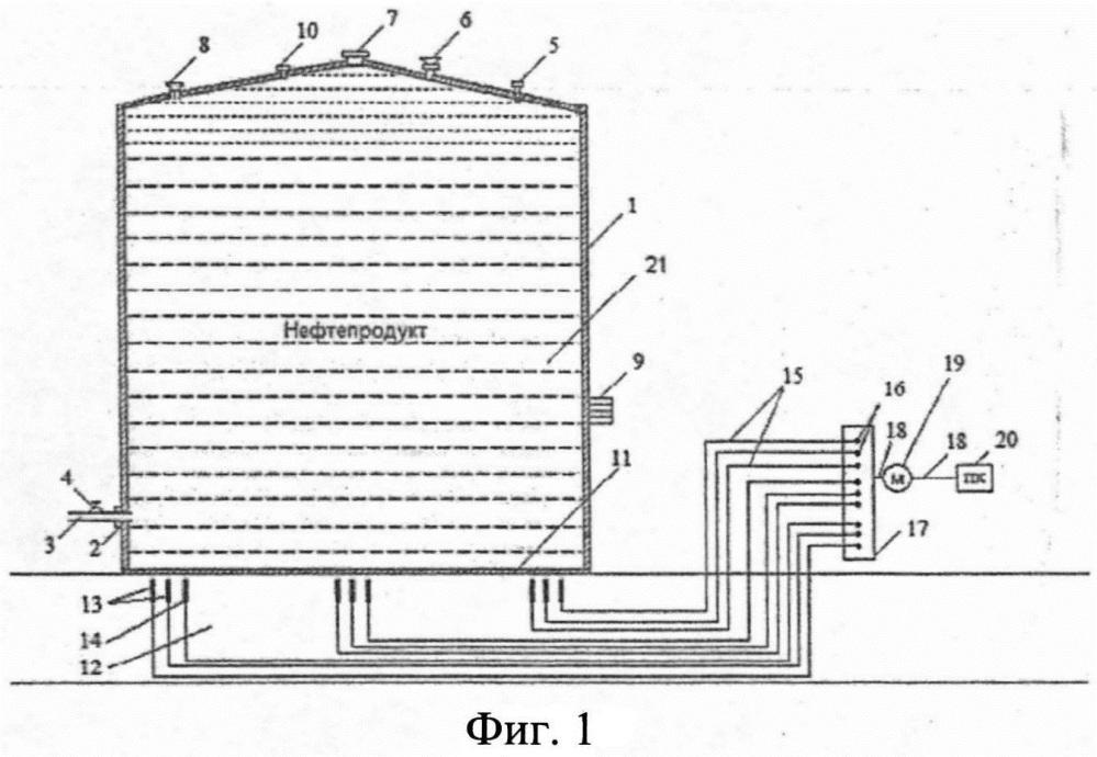 Устройство диагностирования утечек из днища наземного вертикального резервуара с использованием пластин из разных металлов