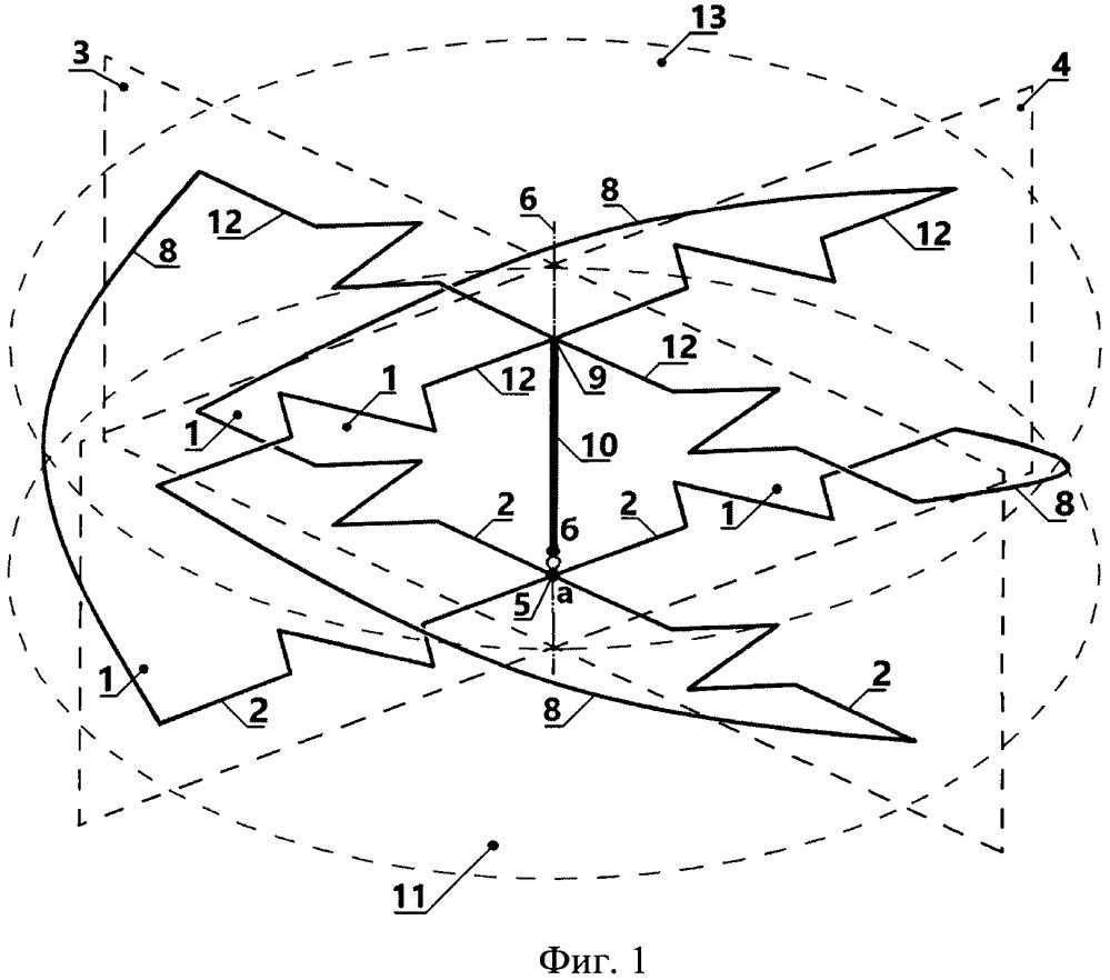 клеверная всенаправленная антенна круговой поляризации