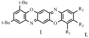 Трет-бутилзамещённые трифенодиоксазины, обладающие люминесцентными свойствами, и способ их получения