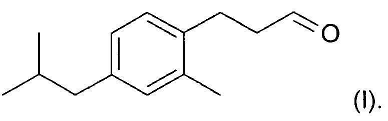 Способ получения 3-(4-изобутил-2-метилфенил)пропаналя, используемого в парфюмерной промышленности