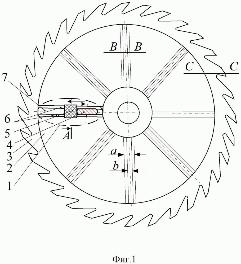 Способ повышения жесткости круглой пилы