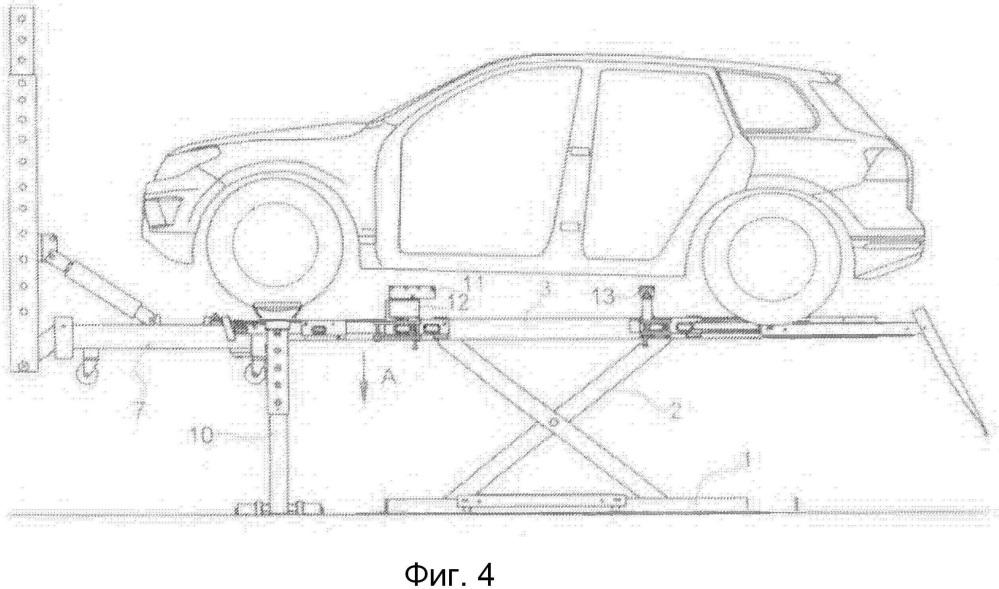 Рихтовочное устройство для автомобиля