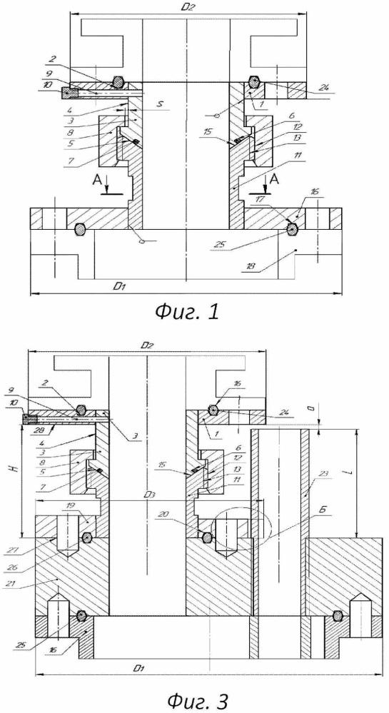 Универсальная переходная катушка устьевой арматуры (варианты)