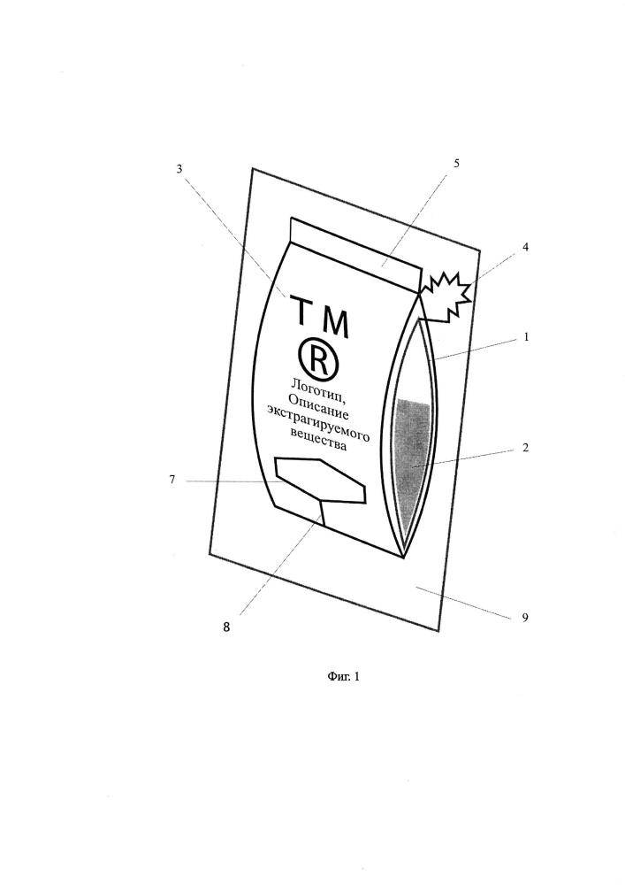 Одноразовый ярлык-конверт для упаковки, хранения, заваривания и употребления чая, кофе, какао и других напитков
