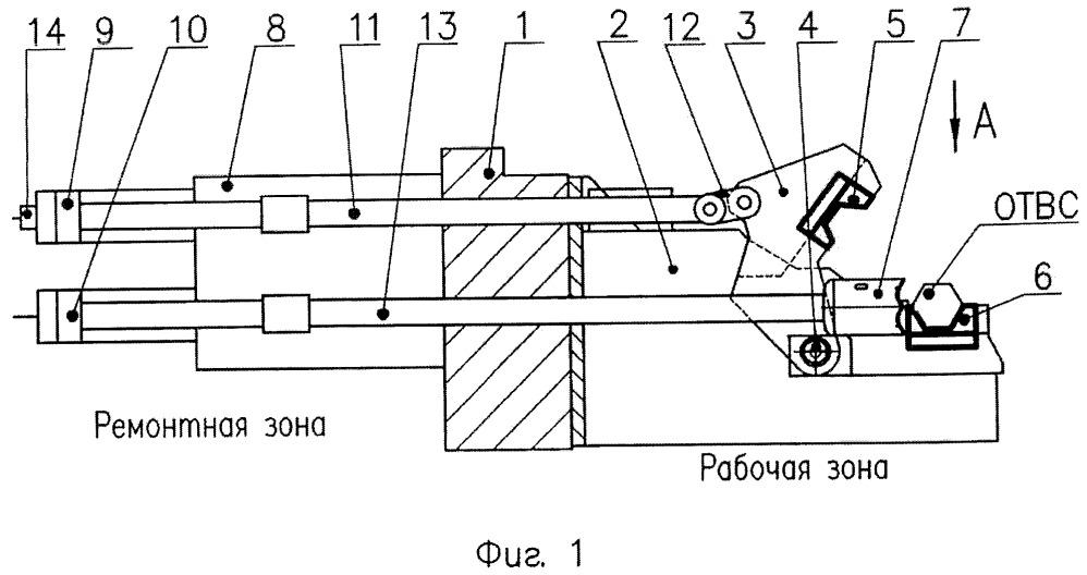 Установка для отрезки концевых деталей отработавших тепловыделяющих сборок