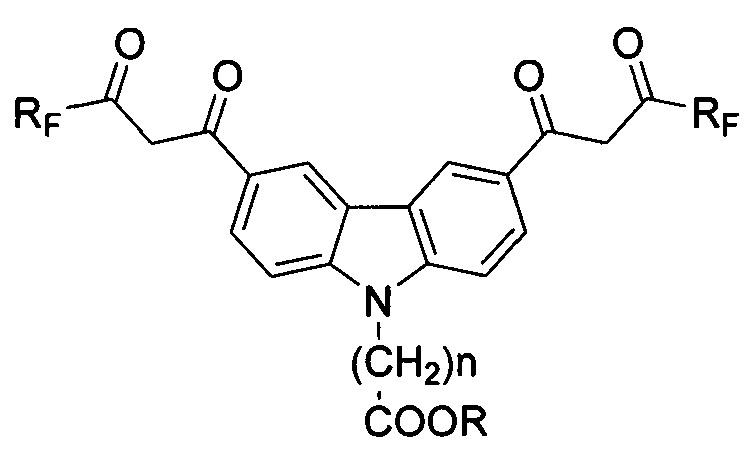 N-спейсерсодержащие 3,6-бис-β-дикарбонилзамещенные карбазолы с фторированными заместителями, для использования в качестве маркеров и комплексонов