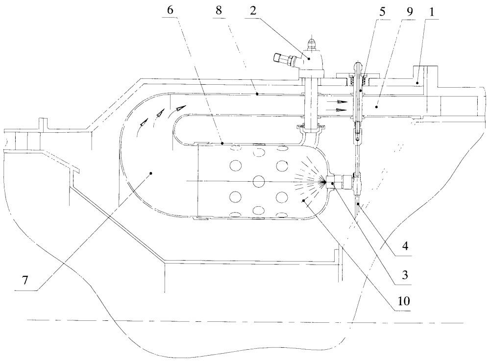 Камера сгорания газотурбинного двигателя