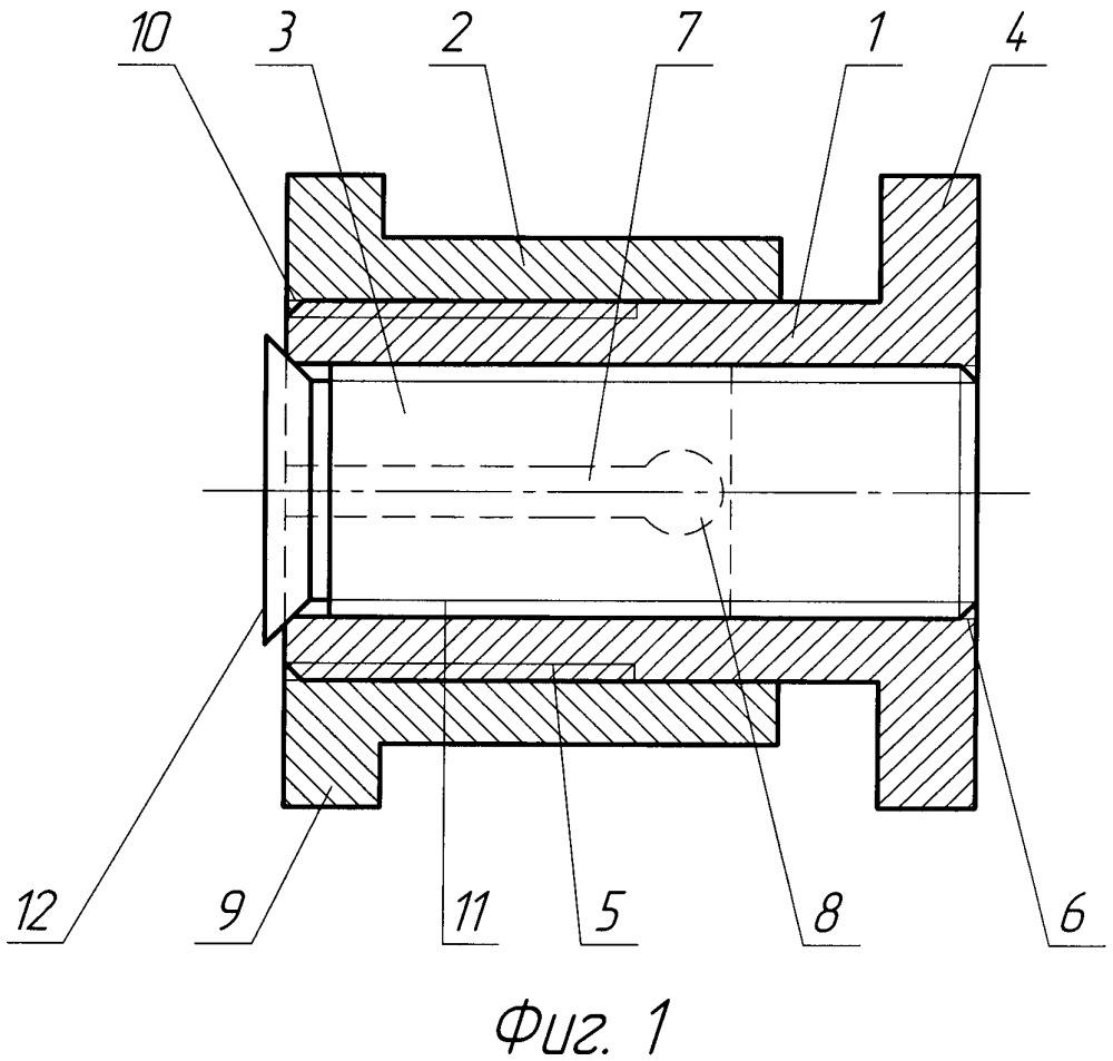 Крепежная ось для соединения подвижных друг относительно друга элементов