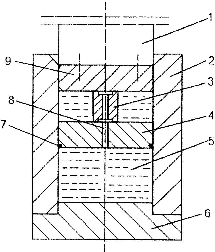Устройство для испытания образца материала на сжатие в условиях гидростатического давления