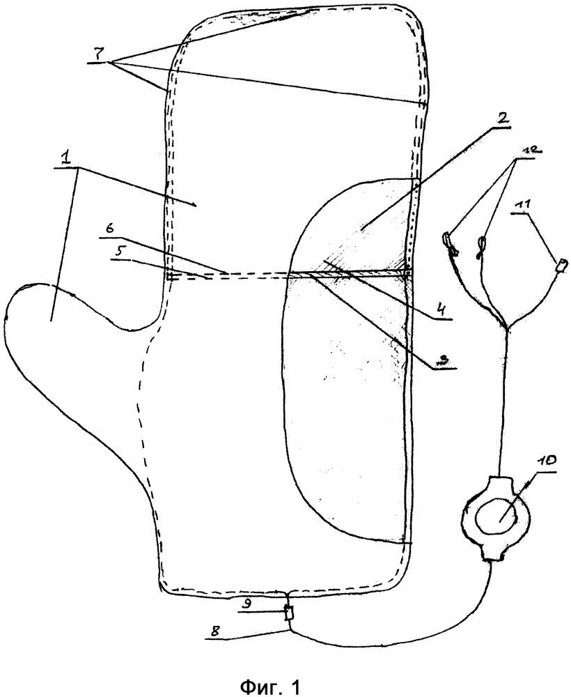 Зимняя рукавица с внутренним подогреваемым карманом