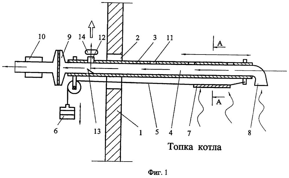 Устройство для исследования образования отложений на стенках топки котла при сжигании топлива