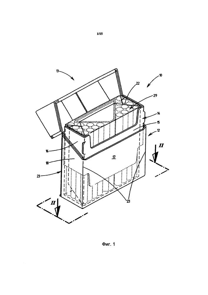 Способ и устройство для изготовления пачек для сигарет, а также пачка для сигарет